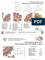 Calendario Escolar II Lapso 2018-2019 Listo