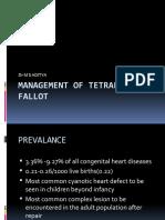 Management of Tetralogy of Fallot