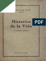 Tagle Vicuña, Alfonso (Siddharta) - Misterios de la Vida, un bosquejo explicativo (1960, Santiago de Chile)