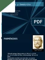 Parménides y Demócrito