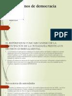 Mecanismos de Democracia Directa