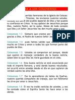 Traducción para el Tiempo Actual - Carta a los Colosenses