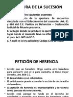 APERTURA DE LA SUCESION