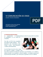 6.1. Comunicación de crisis