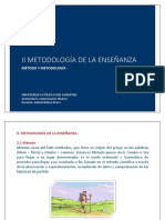 2.1. Metodologia de la enseñanza