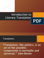 Introduction to literary translation