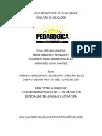 ANÁLISIS ESTRUCTURAL DEL RELATO LITERARIO EN EL CUENTO DECIMO PISO