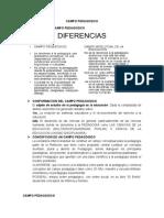 CONSTITUCION DEL CAMPO PEDAGOGICO