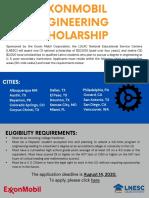 2020 ExxonMobil Engineering Scholarship