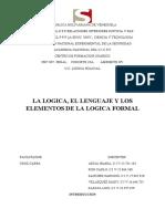 LA LOGICA, EL LENGUAJE Y LOS ELEMENTOS DE LA LOGICA FORMAL