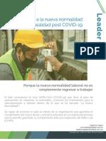 Talent for Talent - Regreso a la nueva normalidad laboral – Realidad post COVID-19