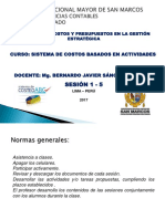 MAT.1 COSTEO BASADO EN ACTIVIDADES MAESTRIA POSGRADO - PROF.BERNARDO SANCHEZ BARRAZA