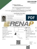 Bosquejo de Certificado
