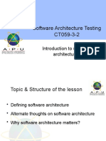 Week 2 - Introduction to software architectures