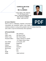 CV OF MD.AL-MAMUN..
