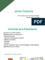 Presentacion Huertos caseros