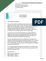 Letter From Utah Area Presidency on Face Masks