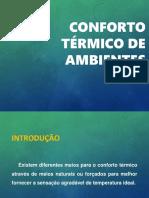CONFORTO TÉRMICO DE AMBIENTES