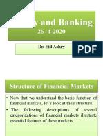 محاضرة الفرقة الثانية نقود وبنوك برنامج الدراسات القانونية باللغة الأنجليزية ليوم ٢٦-٤-٢٠٢٠
