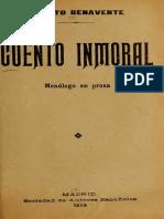 Jacinto Benavente - Cuento inmoral, facsimil 1913.pdf