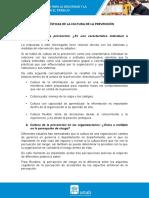 lectura2U2 CARACTERÍSTICAS DE LA CULTURA DE LA PREVENCIÓN