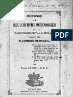 Edmond de Chazal 3sur4 Pamphlets Rev Pierre LeBrun Pasteur Protestant Ile Maurice 1860