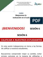 SESION 6. CALIFICAR A LOS ESTUDIANTES
