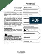excavator operator manual