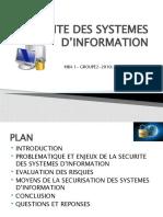 SECURITE DES SYSTEMES D'INFORMATION