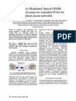 Adaptively Modulated Optical OFDM transmission using two cascaded SOAs for optical access networks.pdf
