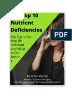 Top 10 Nutrient Deficiencies