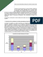 Análisis de los datos referentes a sucesos sobre seguridad de personal BRIF en campaña de incendios 2009