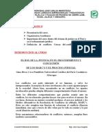 EL ROL DE LA JUSTICIA EN EL PROCEDIMIENTO Y CONCLUSIÓN DE LOS MARC'S Y EL PROCESO JUDICIAL