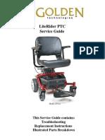 Golden Technologies Literider PTC Envy GP162 GB160 Part and Service Manual 20140516