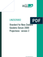 LINZS25002 Standard for New Zealand Geodetic Datum 2000 Projections Version 2