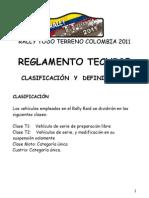 Rally TT Colombia Reglamento Tecnico (provisional)