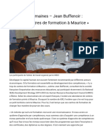 formation a Maurice