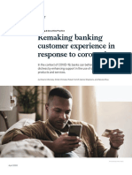 Mckinsey-Remaking banking customer experience in response to coronavirus