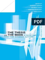 The Thesis and the Book - Harman, Eleanor;