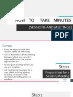 HOW to take minutes for Barangay Secretaries