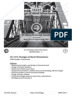 CE 437 - PDF 01 - Intro 01 - Steel -(Design of Steel Structure)