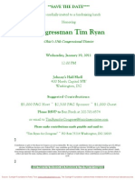 Fundraising Lunch for Tim Ryan