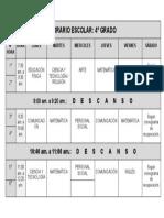 4° GRADO - HORARIO ESCOLAR (1)