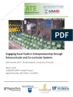 Engaging Rural Youth in Entrepreneurship through Extracurricular and Co-curricular Systems
