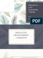 High and Low Level Programming Language