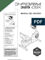 Manual Pro-Form 325 CSX