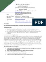 UT Dallas Syllabus for mis6324.501.11s taught by Cuneyd Kaya (cckaya)
