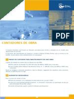 Folheto Contadores Obra