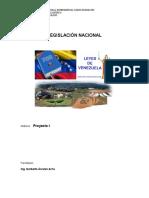 6° Asignación de Proyecto I - Legislación Nacional