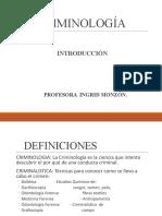 PRESENTACION CRIMINOLOGIA- INTRODUCCIÓN- UNAH